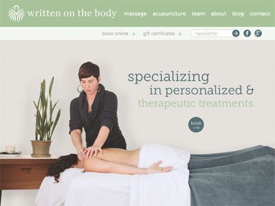 massage website